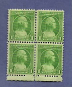 1932--GEORGE WASHINGTON--US  1 CENT STAMP--BLOCK OF 4--SCOTT #785 MNH OG