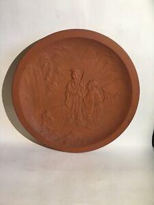 "Vintage Japanese Ceramic Pottery Charger 1920's Impressed Mark A.A.Vantine 12.5"""