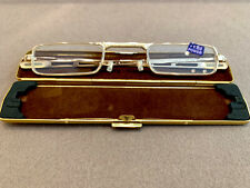 Fertiglesebrille 9 mm Gold Flach +2,50 Dpt