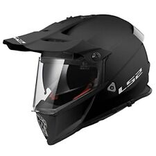 Ls2 Casco Moto Cross Mx436 Pioneer Solid Nero Matto M