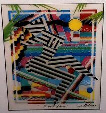 "Marvin Murf Murphy 1993 Framed  Art Deco Theme ""Primal Dance"" Hand Signed Print"