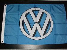 VW SHADOW LOGO BLUE AND WHITE 3' X 2' FLAG VANFEST PLYMFEST JAMBOREE.