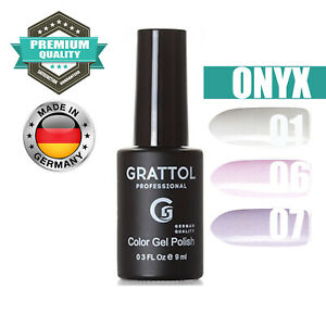 GRATTOL ONYX LED/UV Gel Nail Polish Glitter Color Coat 9 ml 01 06 07 TOP QUALITY