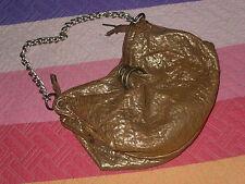 bolso nardelli italy 64€ dorado envejecido cadena y forrado pequeño de fiesta