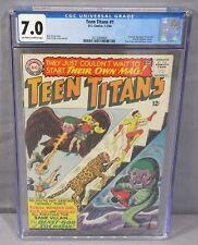 TEEN TITANS #1 (Batman, Aquaman, Flash, Wonder Woman app) CGC 7.0 DC Comics 1966
