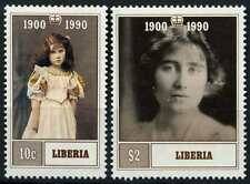 Liberia 1990 SG#1809-10 Queen Mother 90th Birthday MNH Set #D76236