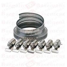 8pc Tuyau Clip Set Easy Turn 2 Tailles jubilé Type Tuyau Clamp Acier Inoxydable