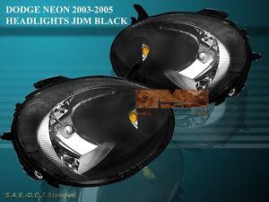 03 04 05 DODGE NEON SRT-4 SRT4/SXT JDM BLACK HEADLIGHTS