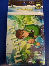 RARE Ben 10 Alien Force Cartoon Network Birthday Party Thank You Notes Cards
