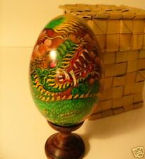 Hand painted goose egg