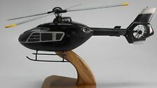 EC-135 Eurocopter T-2 Helicopter Mahogany Kiln Dry Wood Model Large New
