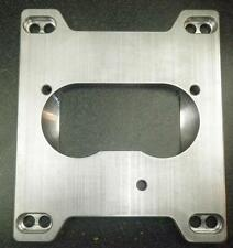 "TBI to sqaure bore carb intake adapter.  1/2"" 6061 Aluminum"