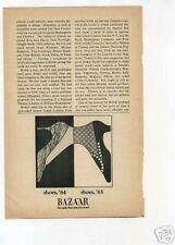 Bazaar Shoes 1960's Original Vintage Ad