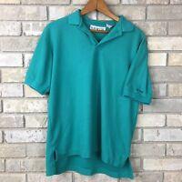 Vintage 80s 90s Levi's Shirts Big E Collar Polo Shirt Mens Medium Green Vtg