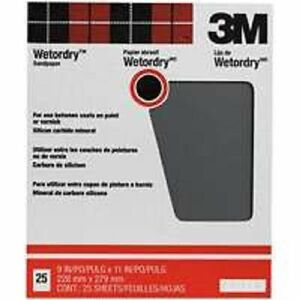 NEW 3M 99420 PRO PACK (25) SHEETS 9X11 WET OR DRY 400A GRIT SANDPAPER 6086599