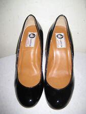 LANVIN  Paris Patent Leather Wedge Shoes Women's Size 36 / 5.5 - 6.