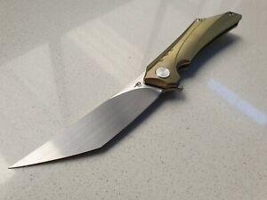 Bestech Kamoza Flipper Gold folding knife BTKT1911C