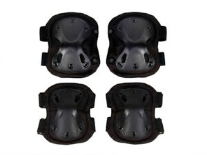 Elbow and Knee Pads Set for Break Dancers Stuntman Enthusiasts Athletes -4pcs