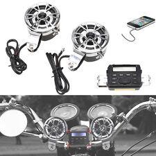 7/8'' Waterproof Motorcycle Handlebar Radio Stereo MP3 FM Music Player &Speakers