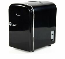 4 Litre BLACK mini Fridge WITH 12 VOLT CAR LEAD RRP £29.99 see full description