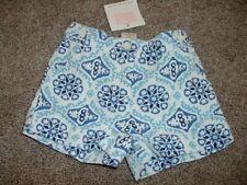 Janie and Jack & Greek Isles Shorts White Blue Mosaic Size 3-6 months Nwt 2009