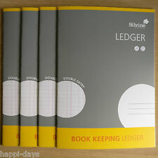 NEW - 4 x A4 BOOK KEEPING LEDGER - Silvine Accounts Office Home Cash - 4 x BOOKS