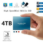 USB 3.1 High Speed Solid State Mobile External SSD Hard Drive Disk 2TB 4TB