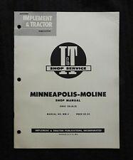 1955 MINNEAPOLIS MOLINE GB UB ZB TRACTOR I & T SHOP SERVICE REPAIR MANUAL NICE