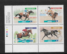 1999 CANADA - CANADIAN HORSES - COMPLETE SET - PLATE BLOCK - MNH.