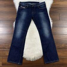 Diesel Men's Size 34 Dark Wash Zatiny Regular Bootcut Denim Jeans 100% Cotton