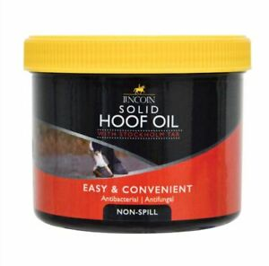 LINCOLN SOLID HOOF OIL Antibacterial + Anti-fugal Encourages Growth Horse Hooves