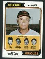 1974 Topps #306 Earl Weaver NM/NM+ Orioles MG 78361