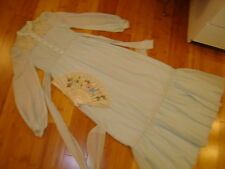 Victorian Dickens Emma day dress blue fan sz S