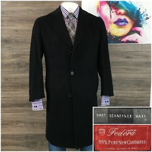 HART SCHAFFNER MARX mens Spencer Cashmere Blend Top Coat