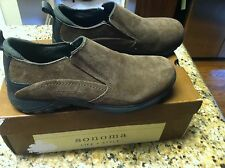 Sonoma Life + Style men's size 8 medium brown black suede shoes Sndobsonbrown