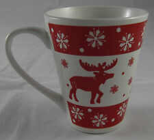 Kaffeebecher 250 ml Tasse Weihnachten 2016 Rentier Schnee Rot Weiß Rot Neu