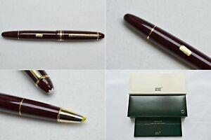 Montblanc Meisterstuck Burgundy Legrand 166 Highlighter Document Marker Pen