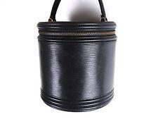 Authentic LOUIS VUITTON Cannes Hand Bag Vanity Bag Epi Noir Black M48032 A-4702
