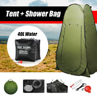 Portable Pop Up Outdoor Camping Tent Shower Change Room With Shower Bag AU Stock