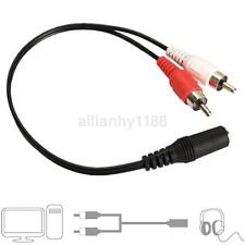 3.5mm Y Adapter Audio Cable Stereo Female Mini Jack to 2 RCA Male Adapter AUX CA