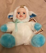 """Ashley Belle Porcelain collectible Spike Cow 10"""" Plush 2000 Certificate Creased"""