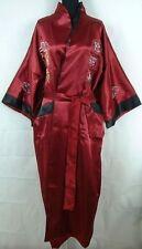 Double-Face Chinese Silk Men's Kimono Robe Gown Bathrobe Dress -XXXL