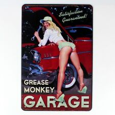 Metal Tin Sign sexy lady garage  Decor Bar Pub Home Vintage Retro wall sign