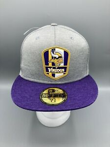 Minnesota Vikings New Era 2018 NFL Sideline Road Official 59FIFTY Fitted Hat