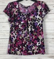 Women's East 5th Multi-Colored Short Sleeve Top Blouse Size M