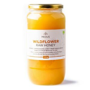 WILDFLOWER Raw Organic Honey from single apiary PURE NATURAL Unpasteurized