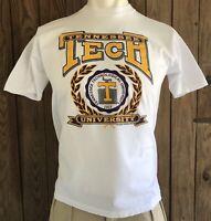 Tennessee Tech Golden Eagles Men's XL Tshirt Vintage 90's White NCAA University