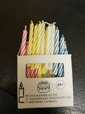 Joblot of 864 Thin COLOURED CANDLES. multi bundle Box wholesale birthday candle