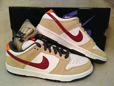 NEW 2006 NIKE SB DUNK LOW PRO CRIMSON sz 9 WHITE VARSITY 304292 161 NIB