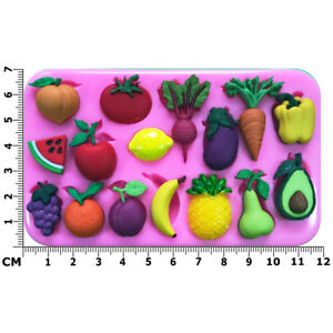 Fresh Fruit & Vegetables 16 Varieties Avocado Silicone Mould by Fairie Blessings